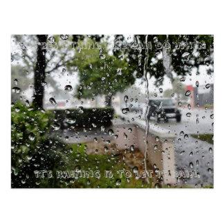 Carte postale de pluie