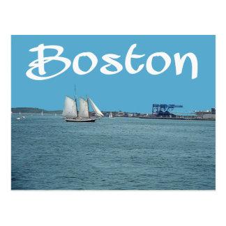 Carte postale de port de Boston, le Massachusetts