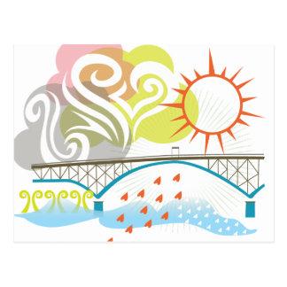 Carte postale de Portland de pont d'île de Ross
