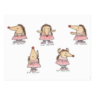 Carte postale de POSITIONS de BALLET par Nicole