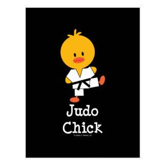 Carte postale de poussin de judo
