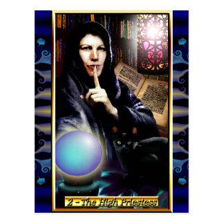 Carte postale de prêtresse de tarot de Banx la