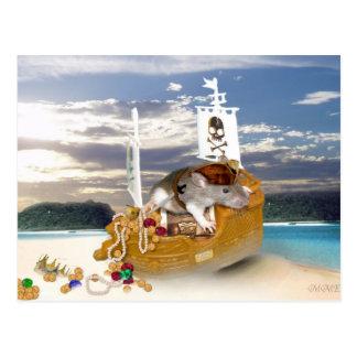 Carte postale de rattie de pirate