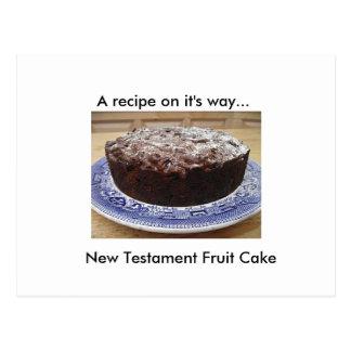 Carte postale de recette de gâteau de bible