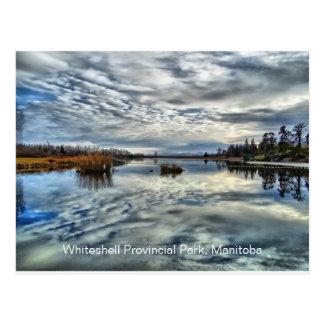 Carte postale de réflexion d'automne de Whiteshell