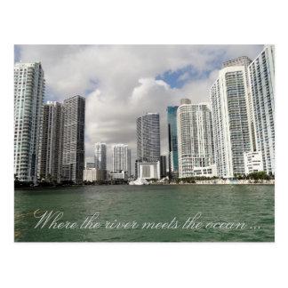Carte postale de rivière de Miami