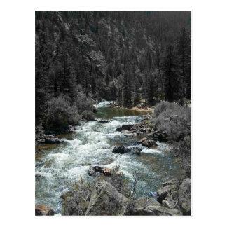 carte postale de rivière de roulement