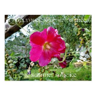 Carte postale de rose trémière