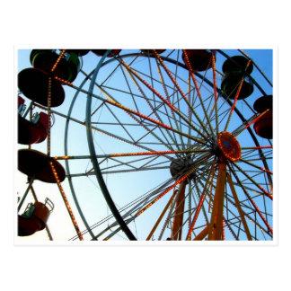 Carte postale de roue de Ferris