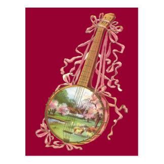 Carte postale de rubans de banjo