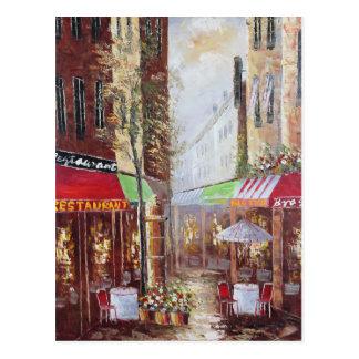 Carte postale de rues de la France