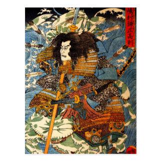 Carte postale de samouraïs de Kuniyoshi