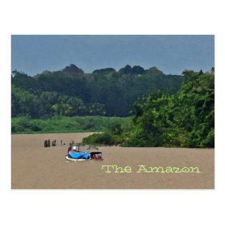Carte postale de scène du fleuve Amazone