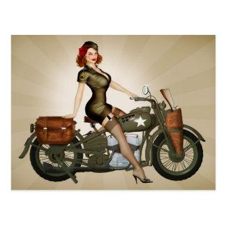 Carte postale de sergent Davidson Army Motorcycle