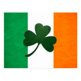 Carte postale de shamrock de l'Irlande
