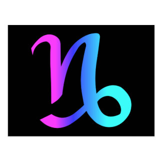 Carte postale de signe de zodiaque de Capricorne