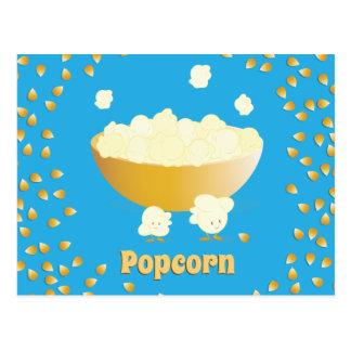 Carte postale de sourire de maïs éclaté et de