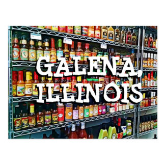 Carte postale de souvenir de l'Illinois de galène