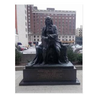 Carte postale de statue de Benjamin Franklin
