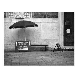 Carte postale de support de gondolier