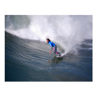 Carte postale de surfer de la Californie