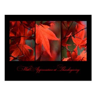 Carte postale de thanksgiving d'affaires