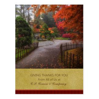 Carte postale de thanksgiving d'affaires - chemin