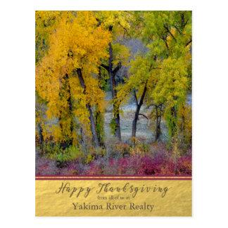 Carte postale de thanksgiving d'affaires d'arbres