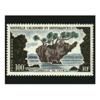 Carte postale de timbre gravée par classique