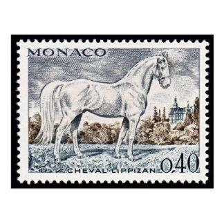 Carte postale de timbre gravée par cru