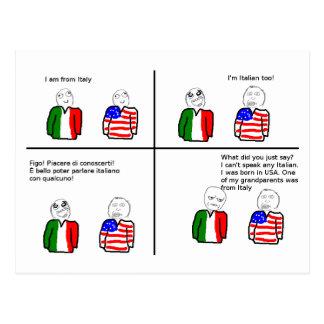 Carte postale de TNIT (rage Italie comique)