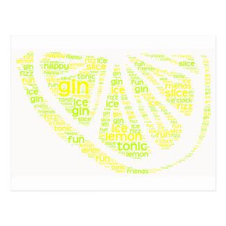 Carte postale de tranche de citron de genièvre