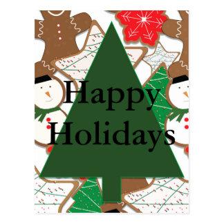 Carte postale de vacances de biscuits de Noël