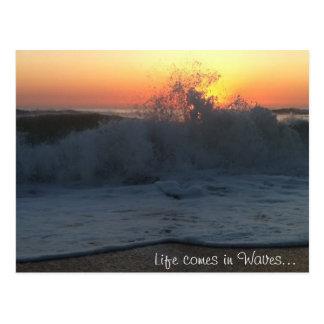 Carte postale de vagues