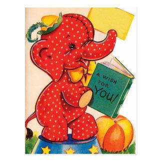 Carte postale de Valentine | de cru de l'éléphant