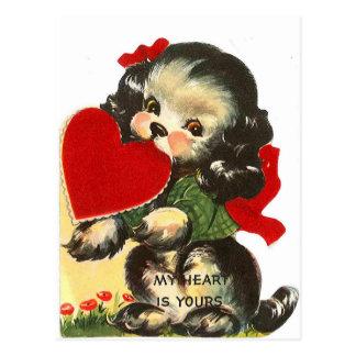 Carte postale de Valentine | de cru du coeur | de