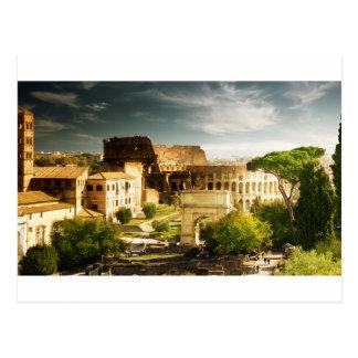 Carte postale de ville éternelle avec la vue du