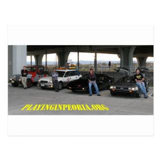 Carte postale de voiture