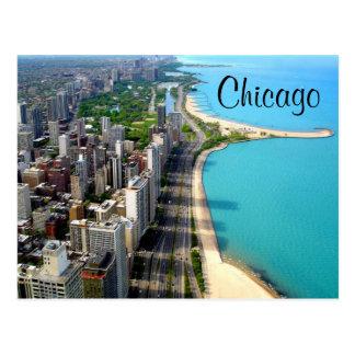 Carte postale de voyage de Chicago l'Illinois de
