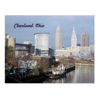 Carte postale de vue de Cleveland, la rivière Ohio