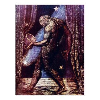 Carte postale de William Blake :  Fantôme d'une