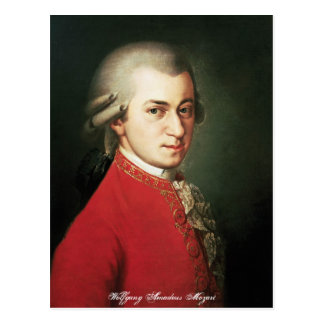 Carte postale de Wolfgang Amadeus Mozart