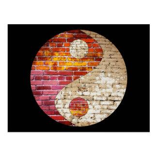 Carte postale de Yin Yang de brique