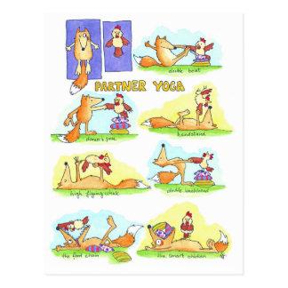 Carte postale de yoga d'associé par Nicole Janes