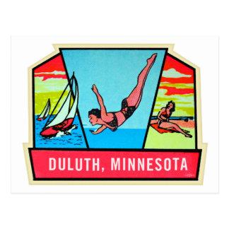 Carte Postale Décalque vintage de voyage du kitsch 60s Dultuh
