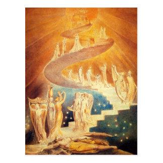 Carte postale d'échelle de William Blake Jacob