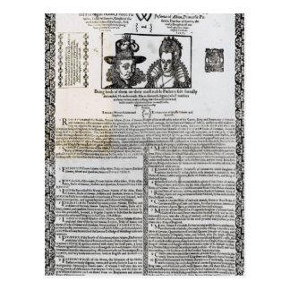 Carte Postale Déclaration du mariage de Frederick V
