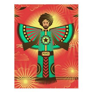 Carte postale d'éclat de paix