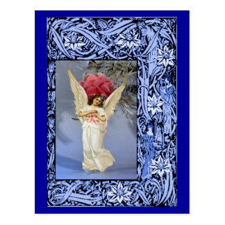 Carte Postale Décoration à ailes d'arbre d'ange