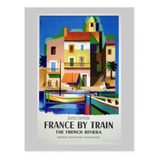 Carte Postale Découvrez la France par le poster vintage de train